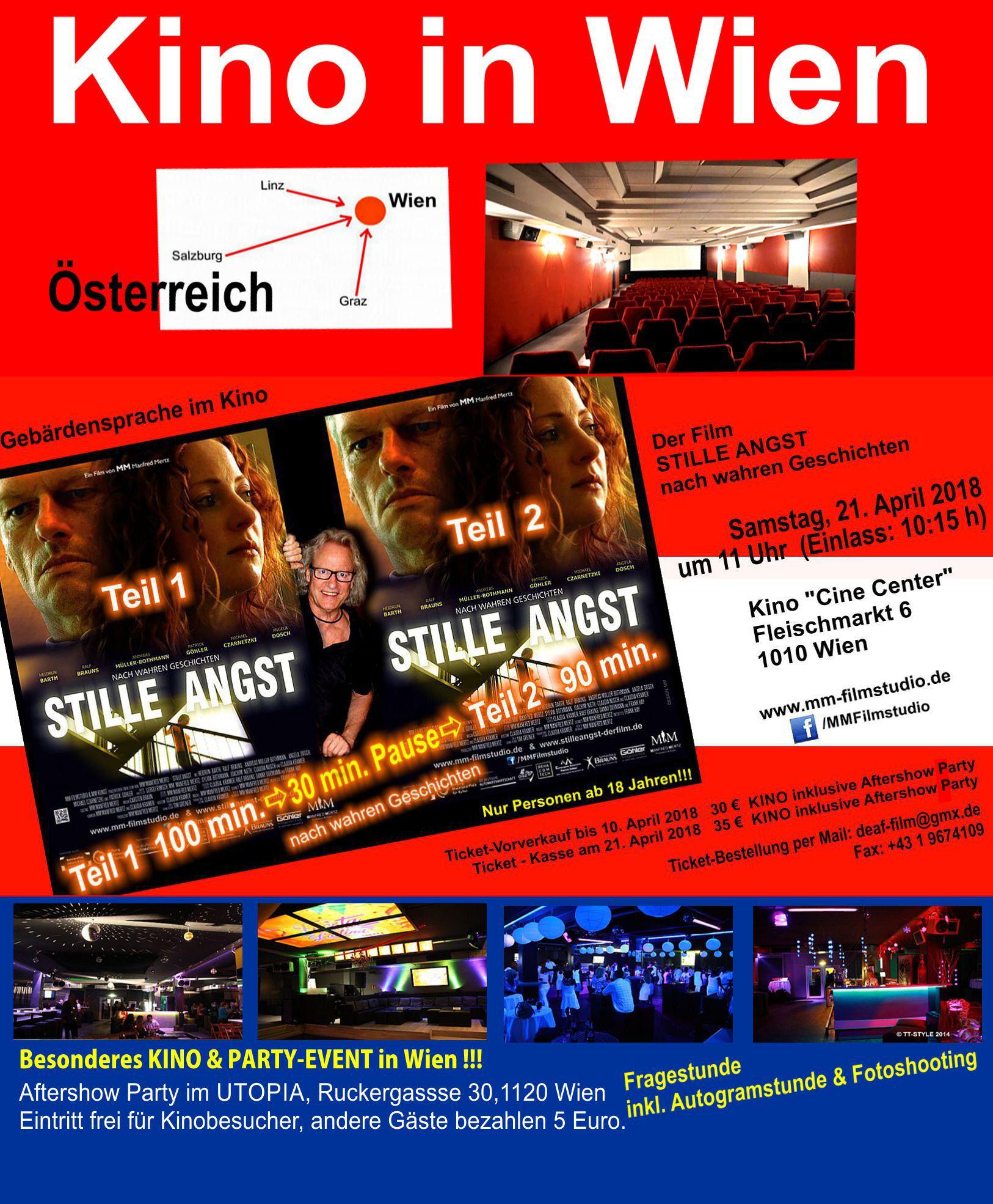 STILLE ANGST MM Film Gebardensprache Im Kino Deaf In WIEN Am 21 April 2018