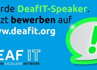 Werden Sie DeafIT Speaker auf der DeafIT KOnferenz 2018