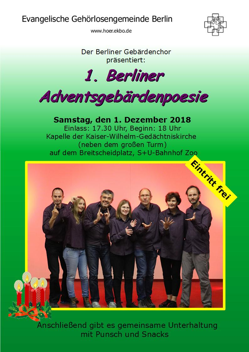 1st berlin advent signing poetry taubenschlag. Black Bedroom Furniture Sets. Home Design Ideas