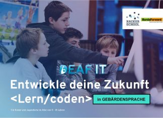 DeafIT Hacker School für Kinder in Gebärdensprache