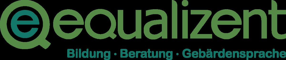 equalizent Logo Schriftzug: Bildung. Beratung. Gebärdensprache.