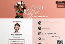 Infoflyer für Deaf Girl Empowerment