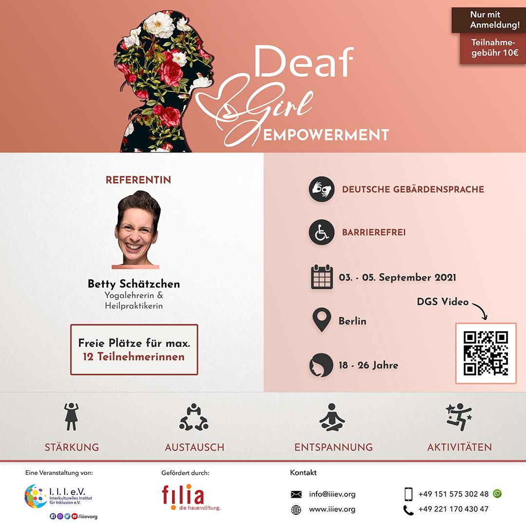 Deaf Girl Empowerment Flyer